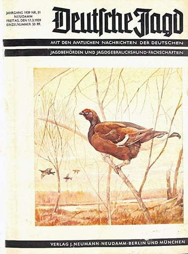 BOUND 1939 - 1944 ISSUES OF THE OFFICIAL GERMAN HUNT PERIODICAL