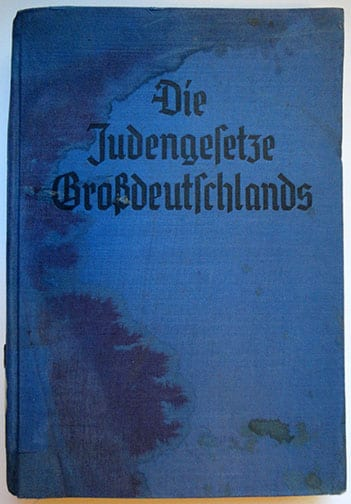 1939 STÜRMER BOOKS JEW LAWS OF GREATER GERMANY