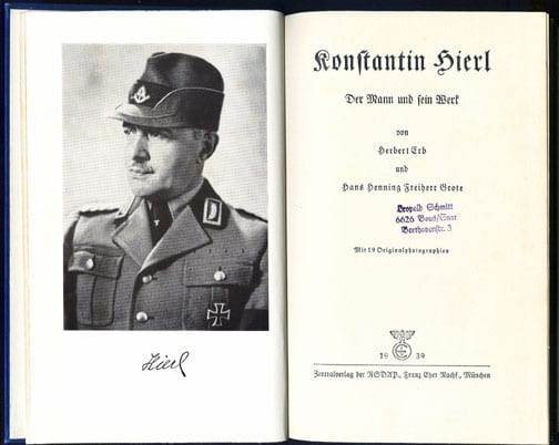 PHOTO BOOK ON THE R.A.D. LEADER KONSTANTIN HIERL