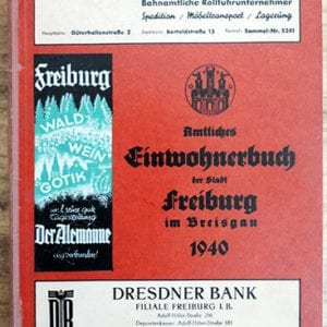 1940 THIRD REICH 'YELLOW PAGES' & ADDRESS BOOK CITY OF FREIBURG