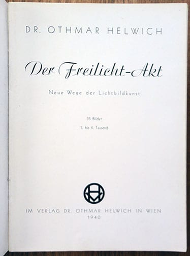 1940 NUDE PHOTOGRAPHY THIRD REICH PHOTO BOOK