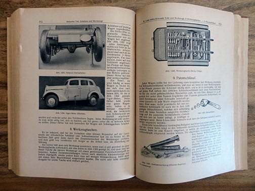 BIG ORIGINAL 1942 THIRD REICH MOTOR VEHICLES 'BIBLE' INCL. THE KdF CAR