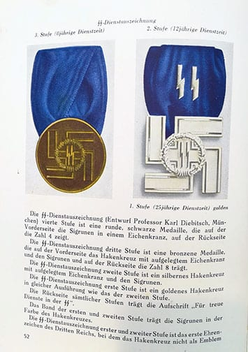 1943 NAZI PHOTO BOOK WITH ALL POLITICAL & MILITARY AWARDS