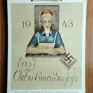 1943 FEMALE LABOR SERVICE WALL CALENDAR