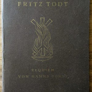 ORIGINAL 1943 REQUIEM ON FRITZ TODT