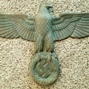 SOLID BRONZE THIRD REICH WALL EAGLE WITH 19 INCH WINGSPAN