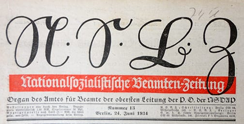 1934 OFFICIAL NAZI BEAMTENZEITUNG PERIODICAL LOT