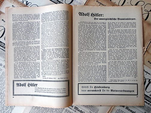 1932/33 OFFICIAL NAZI BEAMTENZEITUNG PERIODICAL LOT