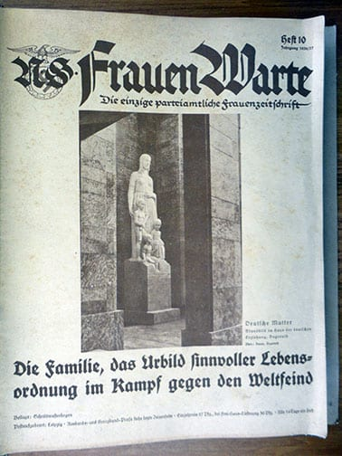 BOUND 1936/1937 SET OF THE NS-FRAUENWARTE PERIODICAL