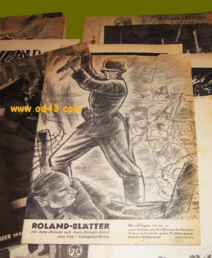 28 ORIGINAL ISSUES OF THE OFFICIAL NAZI PERIODICAL FOR GERMANS ABROAD The heavily illustrated pe