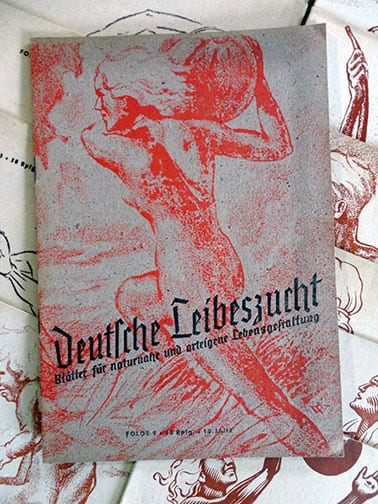 BIG COLLECTION OF 28(!) ORIGINAL ISSUES OF OFFICIAL THIRD REICH NUDE PERIODICAL