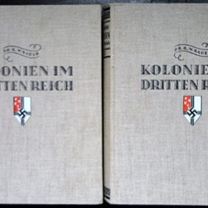 1936 2 VOL. PHOTO BOOK SET ON THE GERMAN COLONIES IN THE THIRD REICH