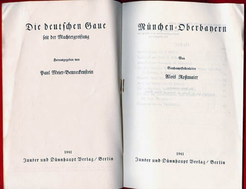 SET OF TWO ORIGINAL 1941 BOOKLETS ON MUNICH AND HAMBURG