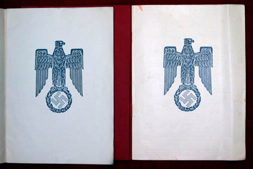 PROGRAMMES OF THE 1938 & 1939 ART PARADE IN MUNICH