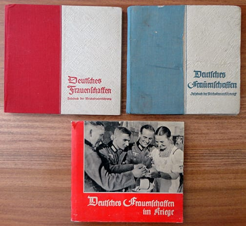 LOT OF THREE ORIGINAL OFFICIAL NS-FRAUENSCHAFT PHOTO YEARBOOKS: 1937, 1939 + 1940