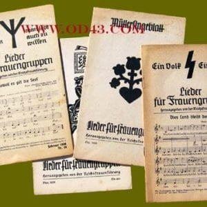 LOT OF FOUR ORIGINAL NS-FRAUENSCHAFT SONG BOOKLETS