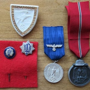 LOT OF FIVE (5) ORIGINAL THIRD REICH BADGES