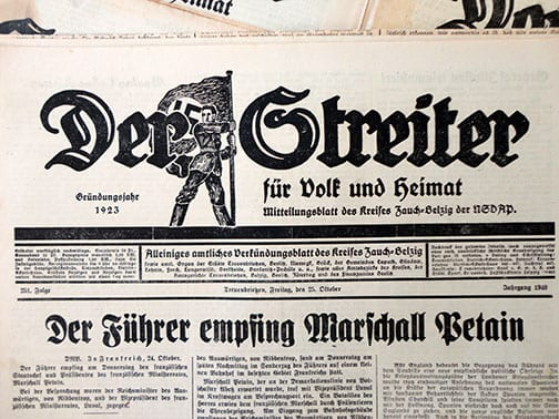 SEVEN 1940 ISSUES OF THE OFFICIAL NAZI NEWSPAPER 'DER STREITER'