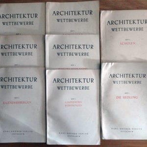 8-VOLUME BOOK SET NAZI ARCHITECTURE COMPETITION