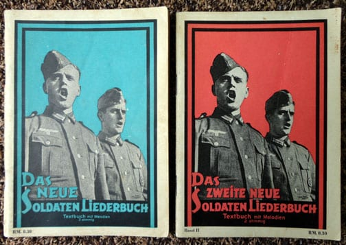 EIGHT (8) RARE ORIGINAL THIRD REICH SONGBOOKS WITH NAZI SONGS