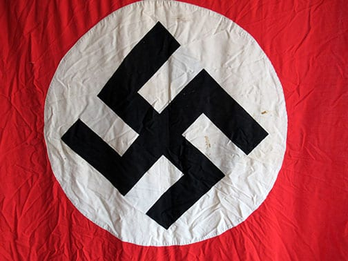 DOUBLE SIDED 1125x2285mm THIRD REICH PARTY BANNER