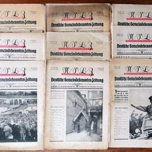 1938 OFFICIAL NAZI BEAMTENZEITUNG PERIODICAL LOT