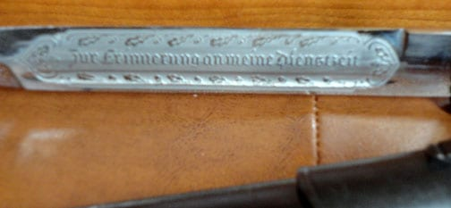 ENGRAVED THIRD REICH ALCOSO DRESS BAYONET