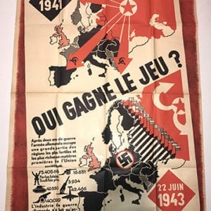 ANTI-RUSSIAN POSTER FROM OCCUPIED FRANCE