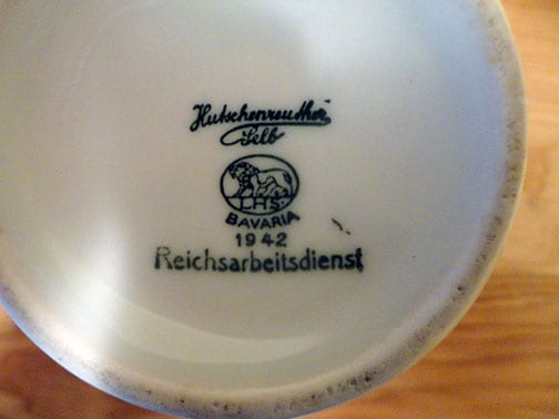 1935 THIRD REICH LABOR SERVICE PLATES AND DISHES