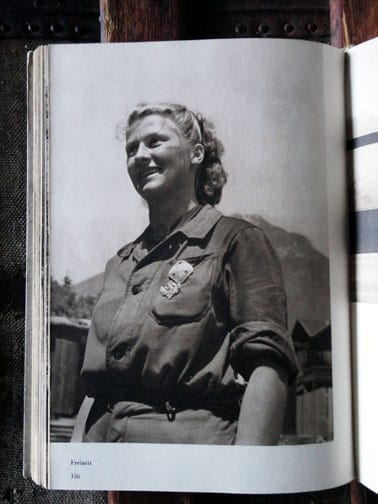 1942 ARBEITSMAID IN THE ALPS NAZI PHOTO BOOK