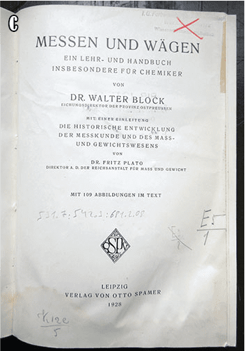 BOOKS FROM THE I.G. FARBEN LIBRARY AT AUSCHWITZ CONCENTRATION CAMP c