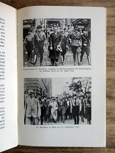 1933 THIRD REICH PHOTO BOOK ON REICH MINISTER DR. JOSEPH GOEBBELS