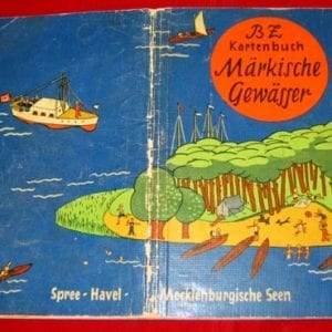 1935 COLOR MAP BOOK WATER WAYS IN AND AROUND BERLIN