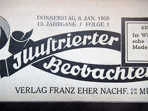 BOUND 1st HALF YEAR 1938 NSDAP NEWSPAPER 'ILLUSTRIERTER BEOBACHTER'