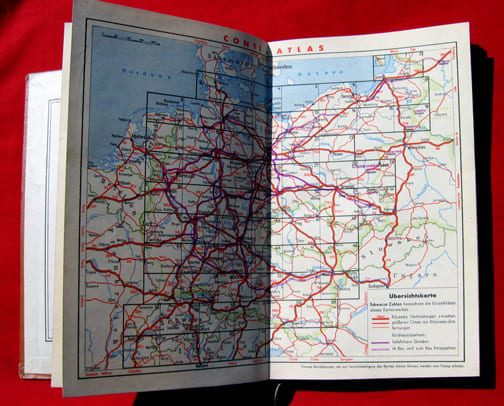 1940(?) FULL COLOR MAP BOOK WITH REICHSAUTOBAHN