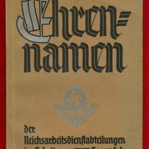 1935 REICHSARBEITSDIENST HONOR NAMES PHOTO BOOK