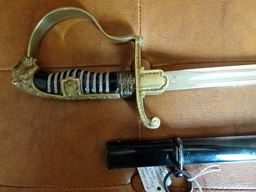 UNALTERED EICKHORN FIELD MARSHAL SERIES LEOPARD HEAD SWORD