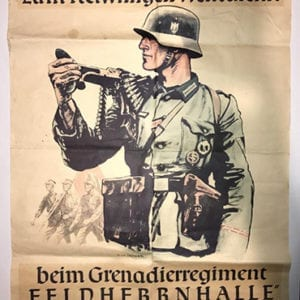 RECRUITMENT POSTER FELDHERRNHALLE PANZERGRENADIERREGIMENT