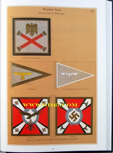 REPRINT OF THE BEST OF ALL THIRD REICH BOOKS ON FLAGS AND BANNERS