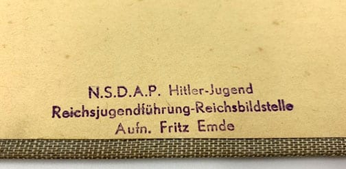 PHOTO ALBUM WITH LARGE GOEBBELS PHOTOS, ONE SIGNED BY HIM