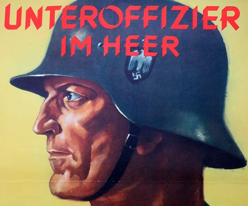 RECRUITMENT POSTER FOR WEHRMACHT HEER NCO'S