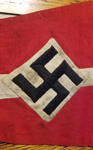 9 x 13-1/2 INCH HITLER YOUTH PENNANT