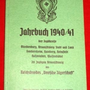 1940/41 NAZI HUNTING ORGANIZATION YEARBOOK