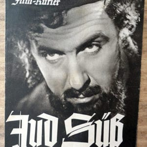"""MOVIE PAMPHLET OF THE INFAMOUS """"JUD SÜß"""" (JEW SUESS)"""