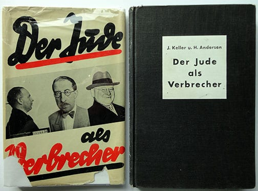 1937 ANTI-SEMITIC THIRD REICH BOOK ON CRIMES COMMITTED BY JEWS