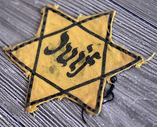FRENCH 'JUIF' STAR OF DAVID