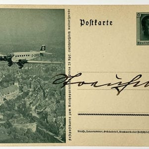 JULIUS STREICHER SIGNED POSTCARD