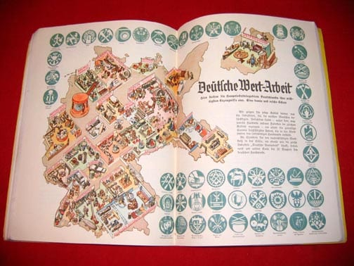 1936 FULL COLOR BOOK ON GERMANY