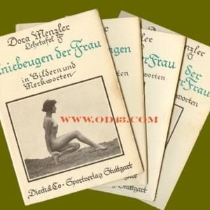 1930s GERMAN FOUR VOLUME SET NUDE GYMNASTICS FOR WOMEN