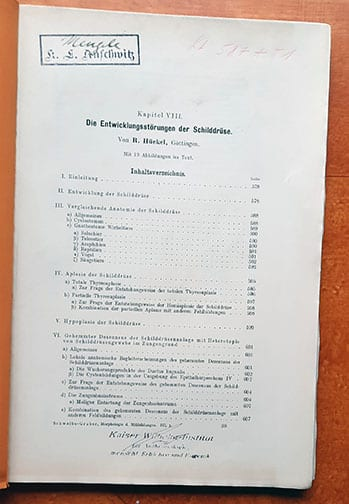 """BOOK FROM """"Dr."""" MENGELE'S LIBRARY AT AUSCHWITZ CONCENTRATION CAMP"""